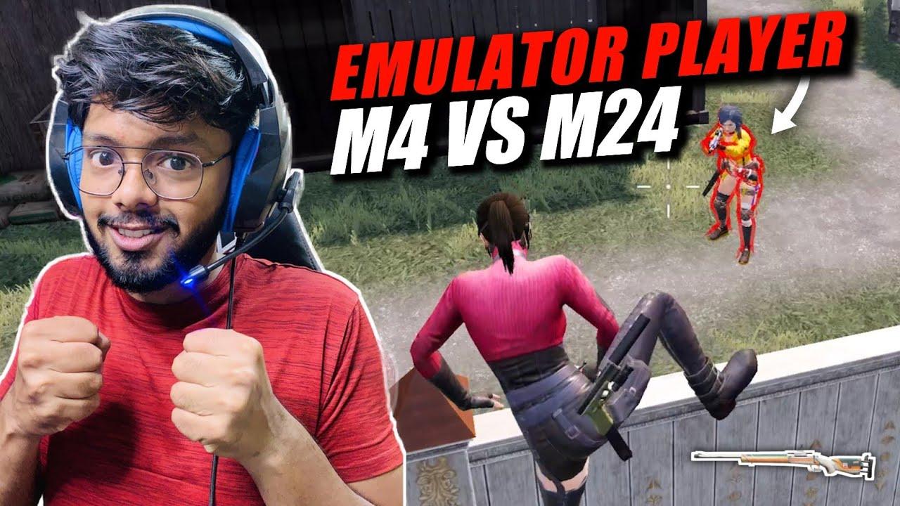 M24 Against Emulator PRO M416 Assaulter | Intense 1v1 Match TDM M4 vs M24 | BGMi | Android Gamer