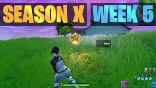 Season X, Week 5 Fortnite Secret Battle Star Location