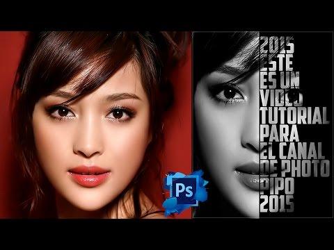 Tutotiales Photoshop CS6: Como Hacer Un Efecto De Cartel Texto - Retrato En Photoshop CS6 (PhotoPipo