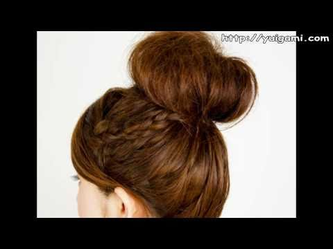Braid long hair with hair ball