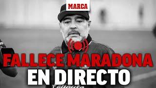 Muere Diego Maradona: reacciones en directo a la muerte del Pelusa