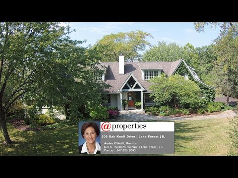 808 Oak Knoll Drive, Lake Forest, IL  -- House for Sale