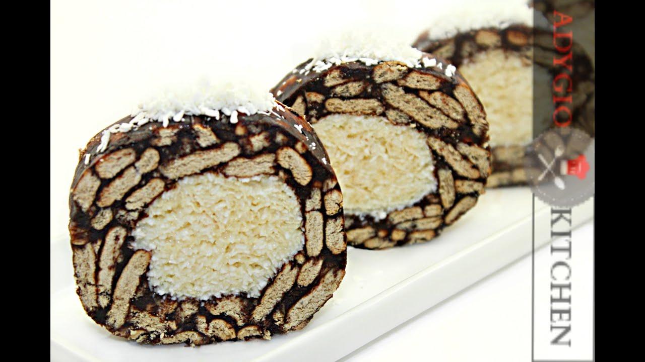 Rulada de biscuiti cu nuca