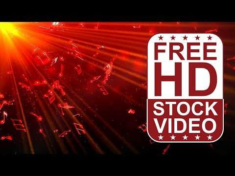 FREE HD  backgrounds –  abstract animated 3D red notes spining and falling slowly