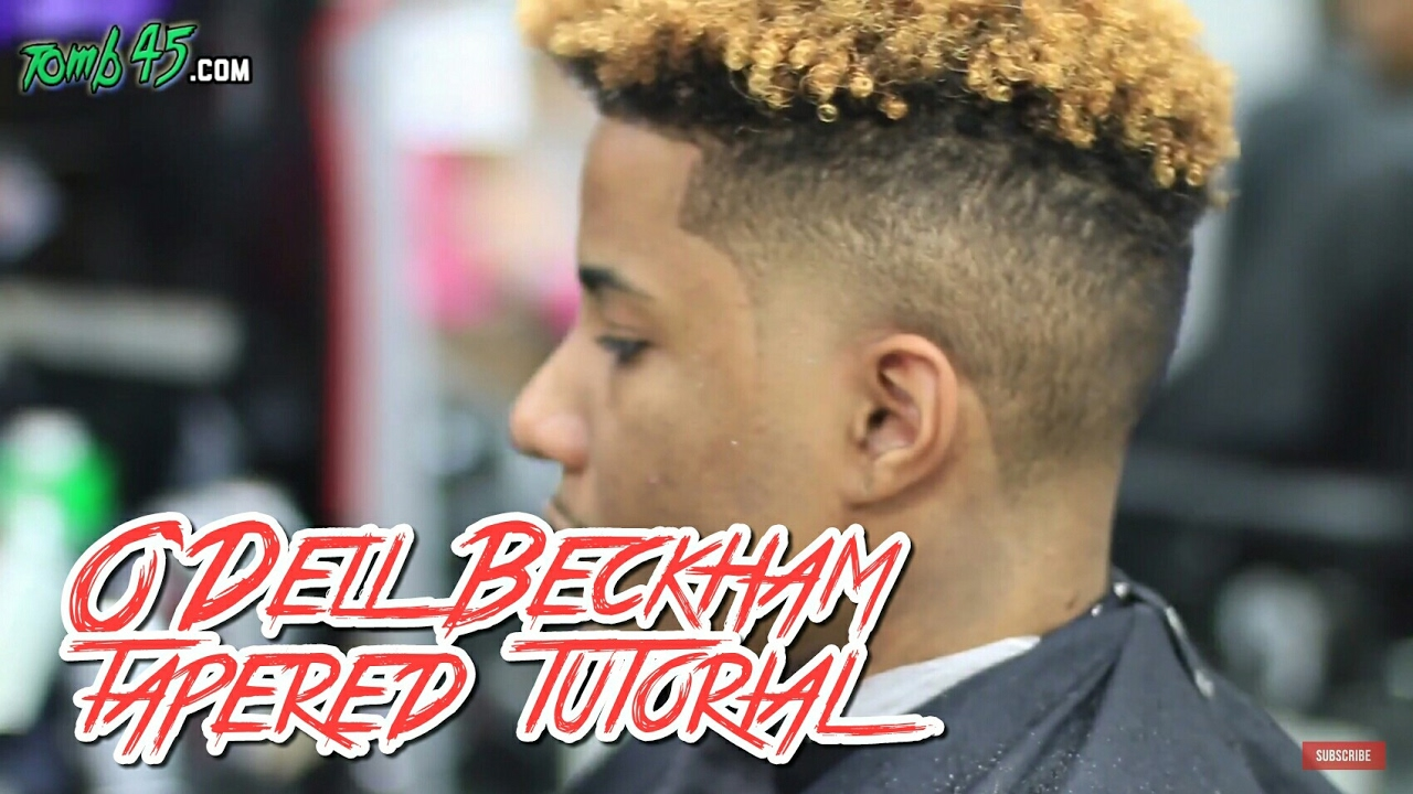 Odell Beckham Haircut Tutorial Tapered YouTube - Odell beckham hairstyle back