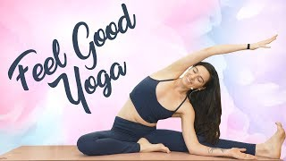 Feel Good Yoga for a Stressful Day, 20 Minute Class with Julia Marie, Relaxing Gentle Stretches