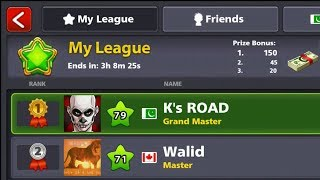 Topping Emerald League - K's Road To Billion with All Leagues Top - Episode#8 - 8 Ball Pool Miniclip