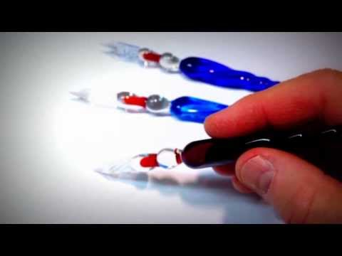 Glass Pens and Pilot Varsity - ASMR