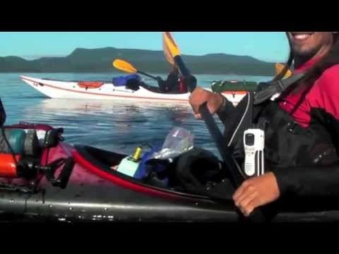 Paddling with Orca and underwater whale sounds at Telegraph Cove, BC