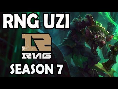 RNG Uzi plays TWITCH vs EZREAL ADC Ranked Master Korea