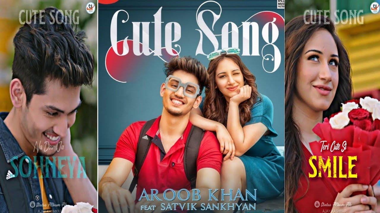 CUTE SONG Full Screen Status  Aroob Khan , Satvik Sankhayan   Latest Punjabi Song  StatusAlbumAk