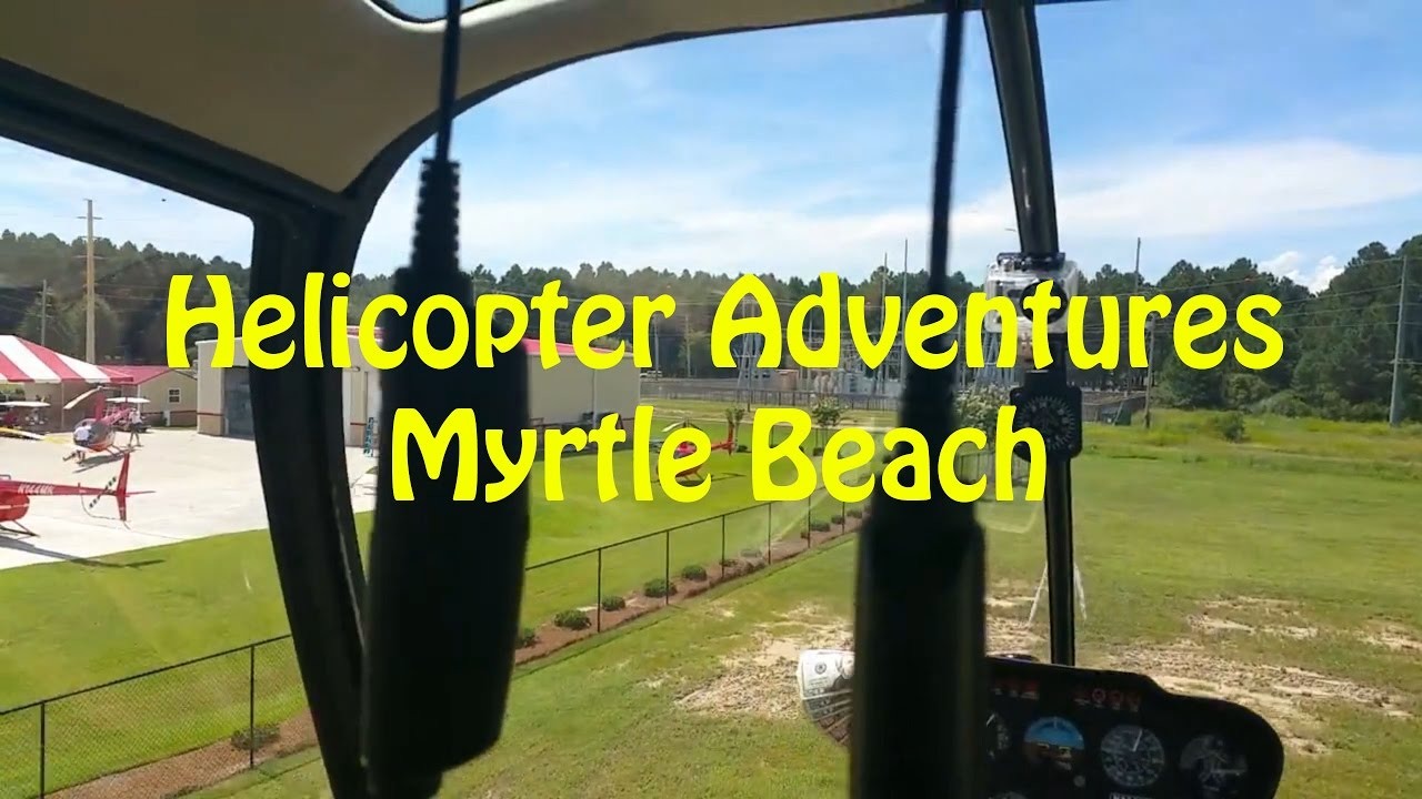Helicopter Adventures Flying Around the Beach