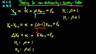 dickey fuller test for unit root