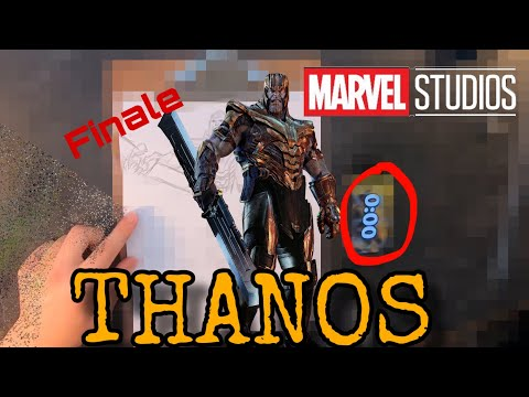Drawing Avengers Endgame Finale | Part 7 | Thanos