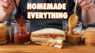 The Perfect PB&J Completely From Scratch Feat. My Mom