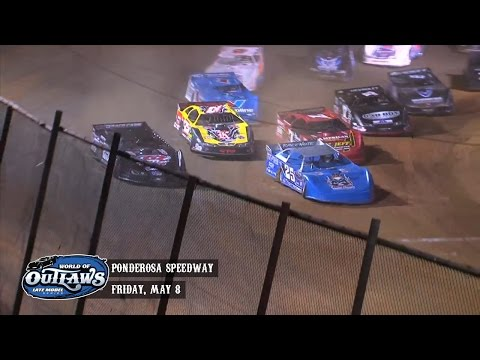 Highlights: World of Outlaws Late Model Series Ponderosa Speedway May 8th, 2015