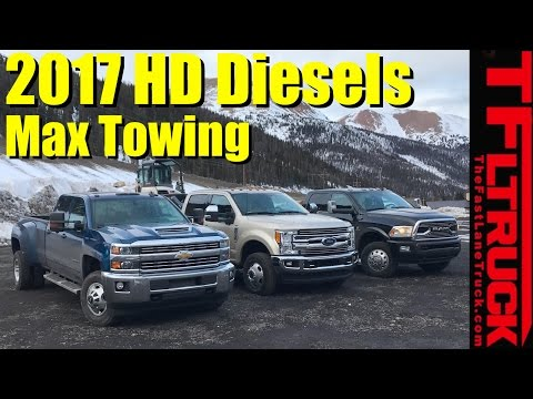 2017 Chevy HD vs Ford Super Duty vs Ram HD Ike Gauntlet Review: Worlds Toughest Towing Test