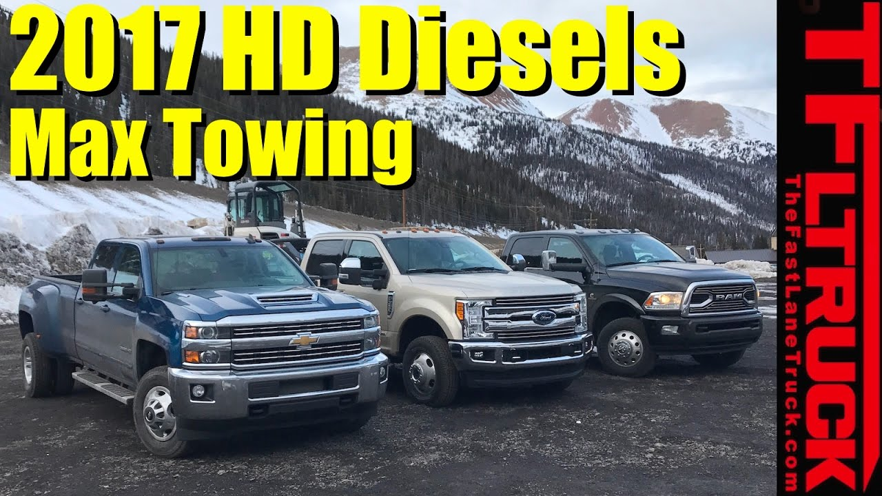 2017 chevy hd vs ford super duty vs ram hd ike gauntlet review worlds toughest towing test