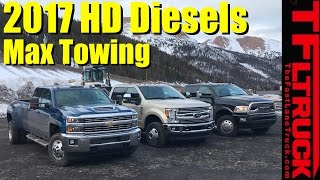 2017 Chevy HD vs Ford Super Duty vs Ram HD Ike Gauntlet Review: World's Toughest Towing Test