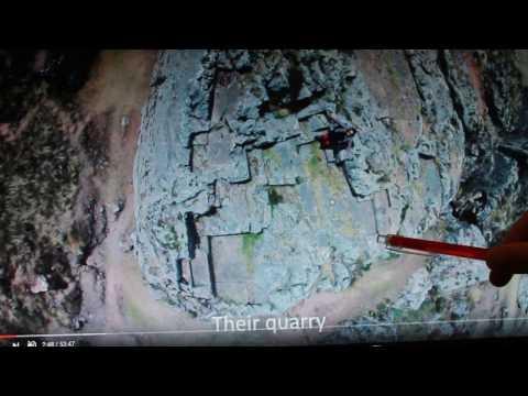 They cut rocks like butter. Inca 'Quarry'...
