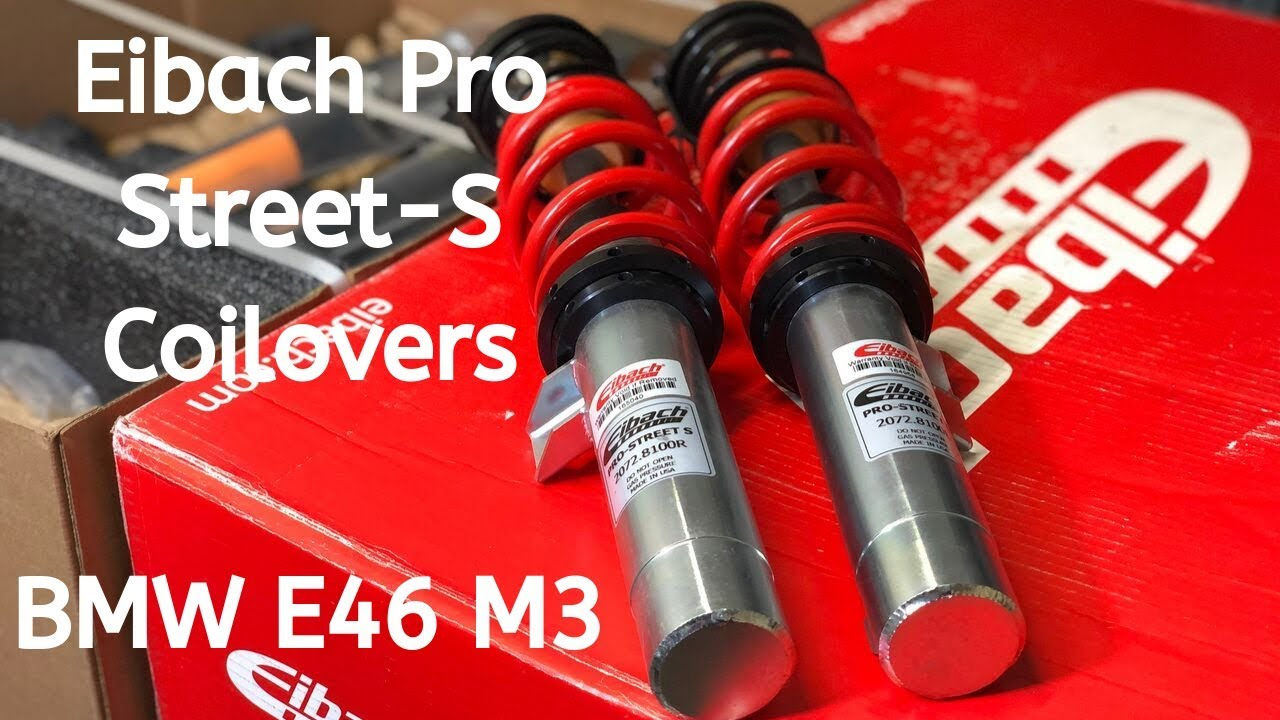 Unboxing Eibach Pro Street-S Coilovers BMW E46 M3 - Features & Specs Review