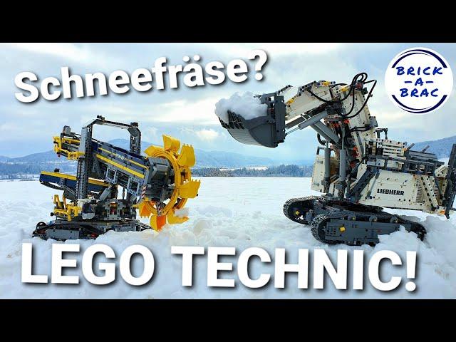 Schneefall in Kärnten: LEGO® TECHNIC statt Schneefräse!!! [LIVEHACK😉]