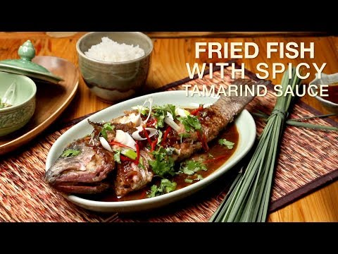 Fried Fish With Spicy Tamarind Sauce Recipe