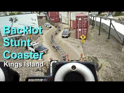 2018 Backlot Stunt Coaster On Ride HD POV Kings Island