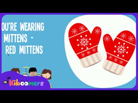 Winter Mittens Song | Song Lyrics Video for Kids | Winter Songs | The Kiboomers