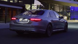 Mercedes S-CLASS 2021 - DRIVING AT NIGHT, new DIGITAL lights in action