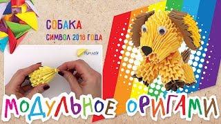 Модульное оригами • Собака • Символ 2018 года