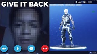 So I SCAMMED the Skull Trooper account Fortnite SCAMMER