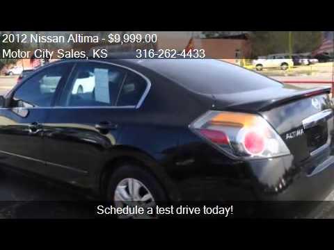 2012 Nissan Altima 2 5 S 4dr Sedan For Sale In Wichita Ks