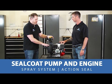 Sealcoat Pump And Engine   Spray System   Action Seal