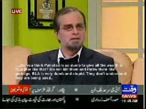 A dumb pakistan defense analyst on Obama, US policies being made by Israel, his support to Taliban