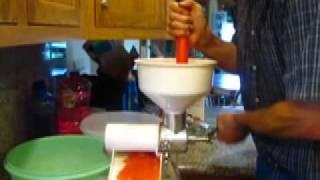 How to make tomato juice with a FOOD STRAINER (Back to Basics)
