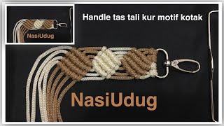 Cara membuat handle tas tali kur motif kotak by nasiudug