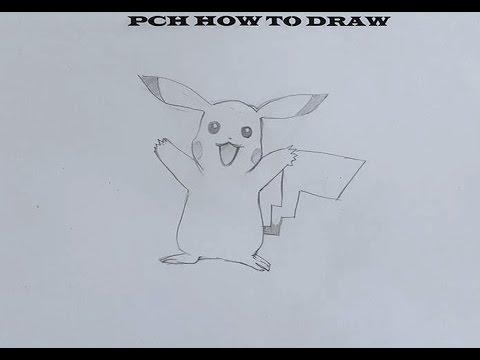 How to draw pikachu   PCH - YouTube