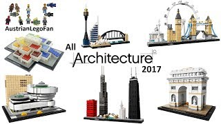 All Lego Architecture Sets 2017 Complete Collection - Lego Speed Build Review