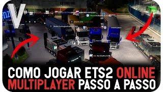 COMO JOGAR EURO TRUCK SIMULATOR 2 ONLINE 2018!!