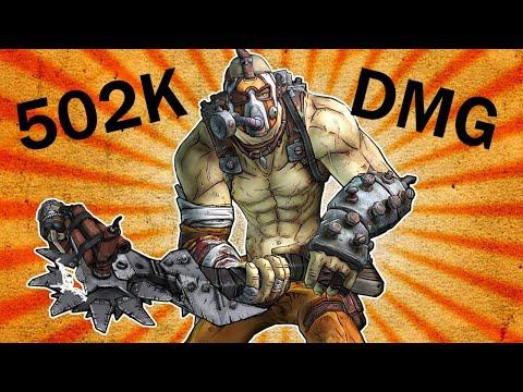 502K DAMAGE with KRIEG (Borderlands 2 - Tiny Tina's Assault on Dragon Keep DLC) |