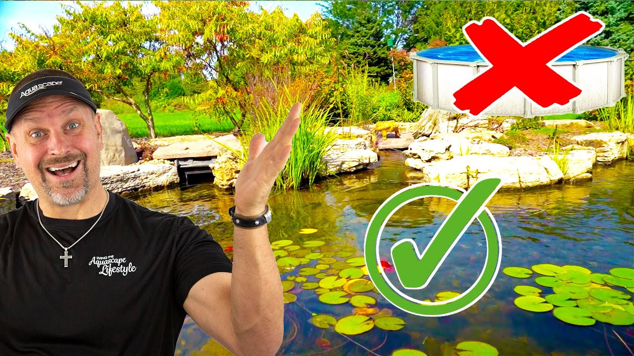 Natural Aquascape Pond Replaces Large Pool Youtube