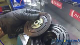 Як замінити підшипник шківа і муфту компресора кондиціонера. Honda CRV 2.4.