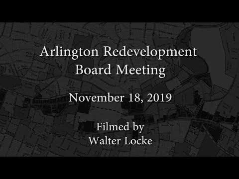 Redevelopment Board Meeting - November 18, 2019