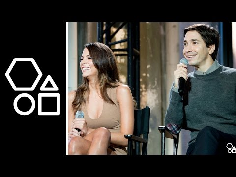 Justin Long and Genesis Rodriguez  AOL BUILD