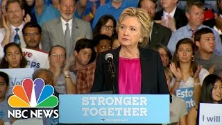 Day After Debate, Hillary Clinton Takes Jabs At Donald Trump | NBC News