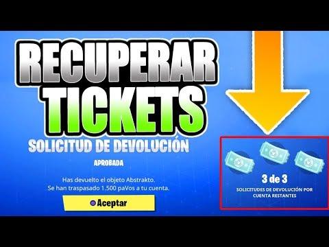 Cómo Recuperar Tickets De Devolución En Fortnite Tickets De