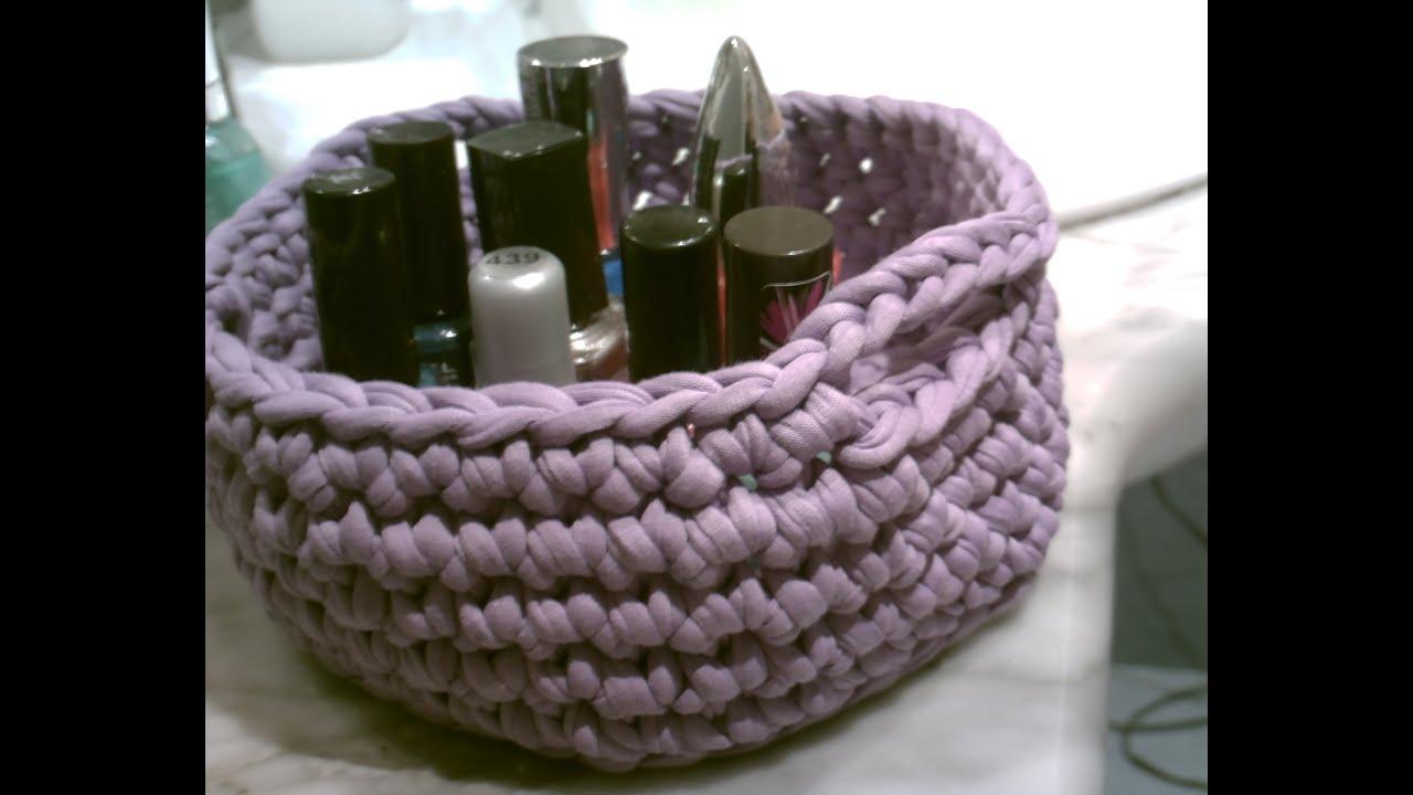 Como hacer una cesta paso a paso en espa ol a ganchillo - Cesta de cuerda y ganchillo ...