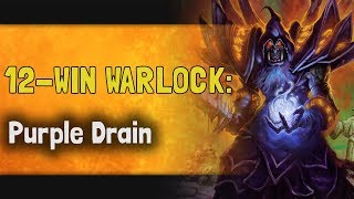 Hearthstone Arena - Witchwood - 12-Win Warlock: Purple Drain