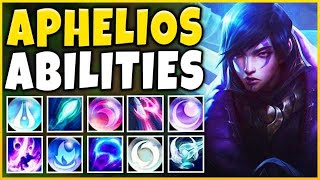 NEW CHAMPION APHELIOS ABILITIES REVEALED! 25 SPELLS IN ONE CHAMPION!!! - League of Legends